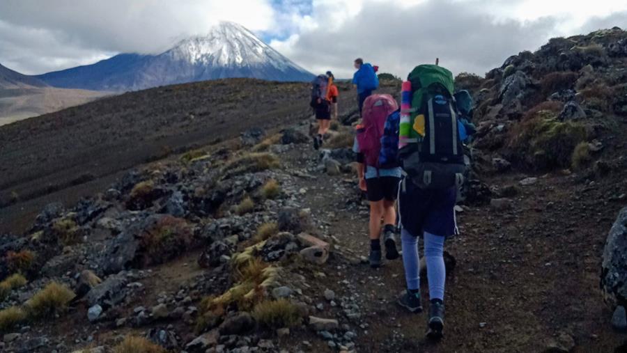 Tongariro Northern Circuit trail group
