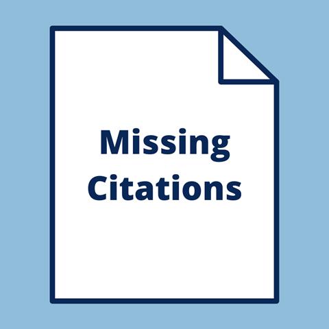 Missing Citations