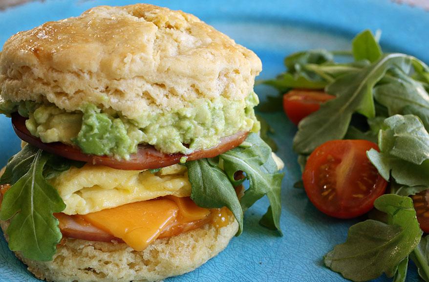 Einkorn breakfast sandwich