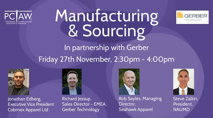 Manufacturing & Sourcing webinar