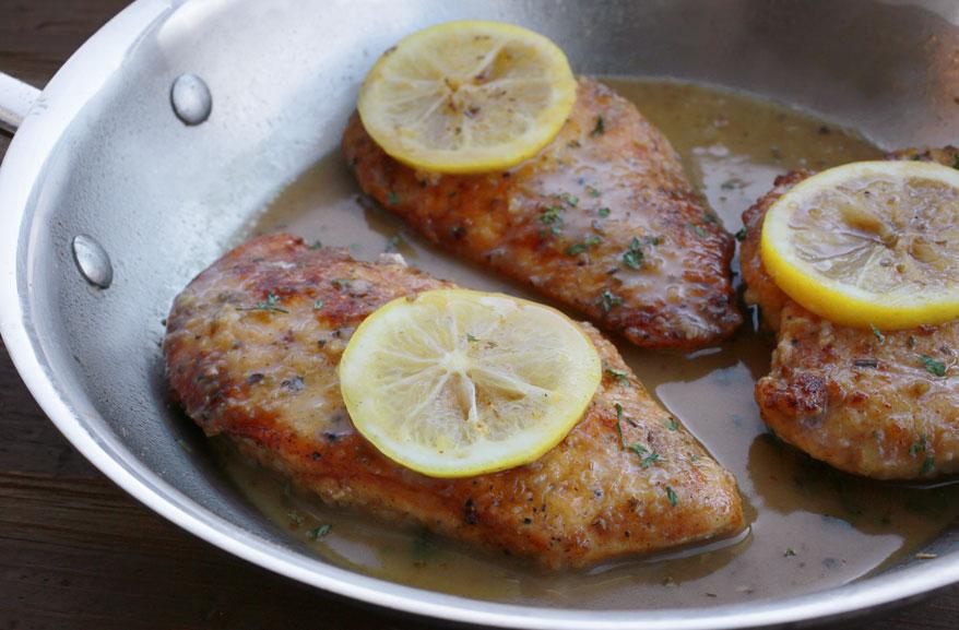 Savory lemon chicken