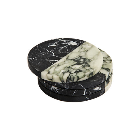 Polar Marble Coaster Nero and Fiore