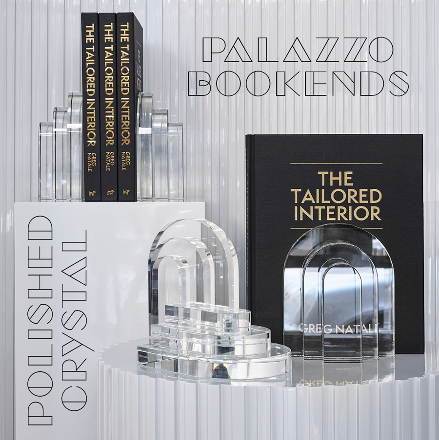 New Palazzo Crystal Bookends