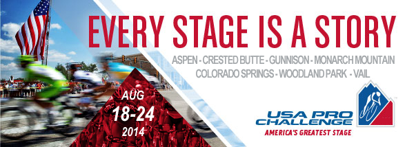 Every stage is a story USA PRO CHALLENGE Aspen Snowmass Breckenridge steamboat springs beaver creek vail loveland fort collins denver