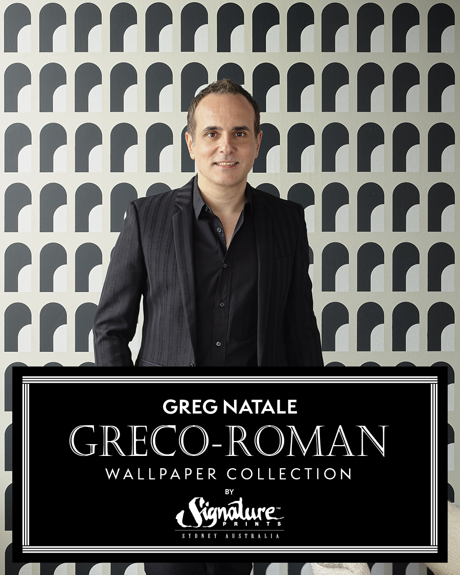 Greg Natale Greco-Roman Wallpaper Collection with Signature Prints