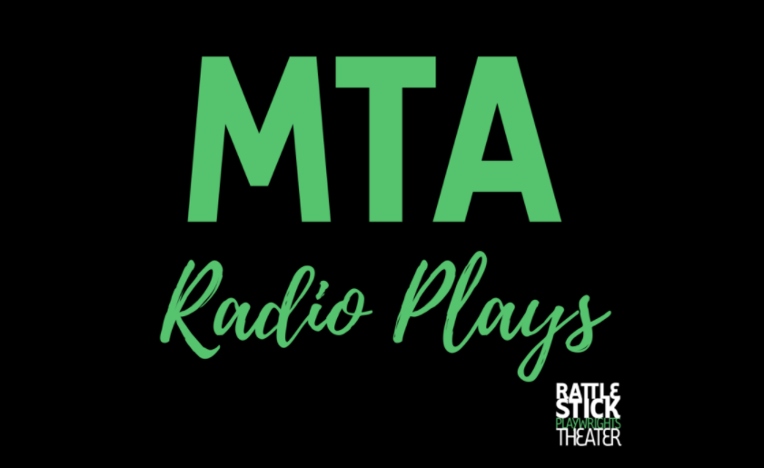 "Green text on black background ""MTA Radio Plays"""