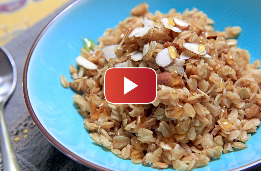 Honey almond skillet oatmeal