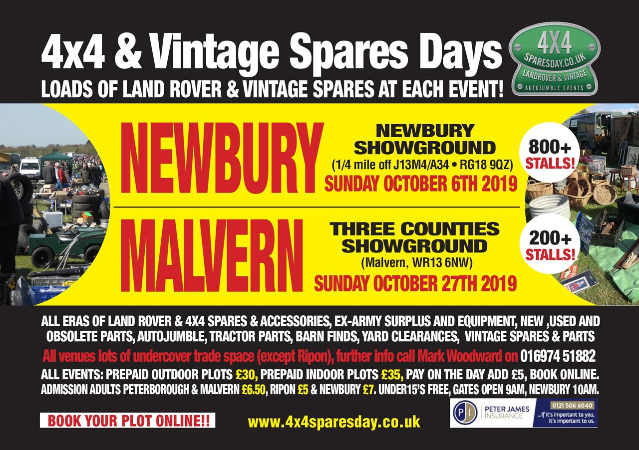 Newbury & Malvern 4x4 Spares Days
