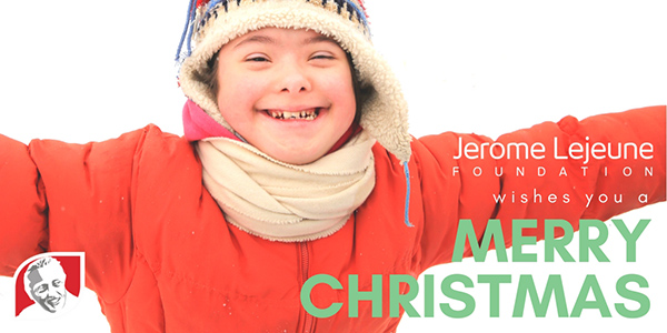 Merry Christmas from the Jerome Lejeune Foundation USA! graphic