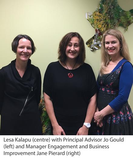Lesa Kalapu with Jo Gould and Jane Pierard