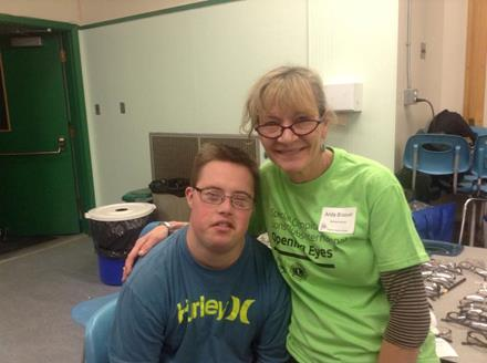 Athlete Bryan and volunteer Anita at Healthy Athletes