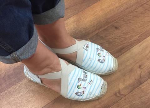 Amanda's new Cath Kidston shoes