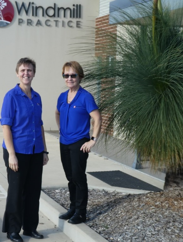 Dr Louise Badenhorst (left) and Anne O'Connor.