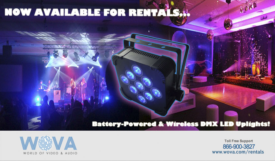LED Event Lighting Rentals - Wireless DMX and Battery-Operated