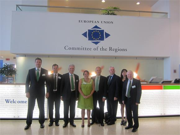The Bristol Green Capital Bid team in Brussels (Photo: BGC email newsletter)
