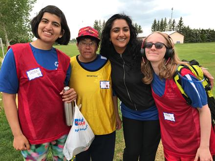 Special Olympics BC women's soccer players