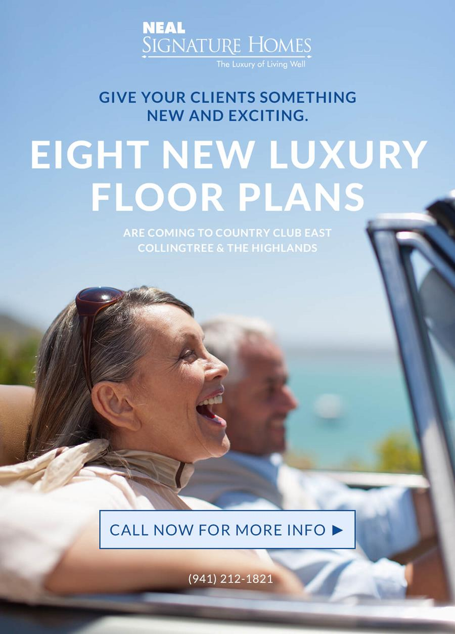 eight new luxury floor plans at Country Club East Collingtree and The Highlands