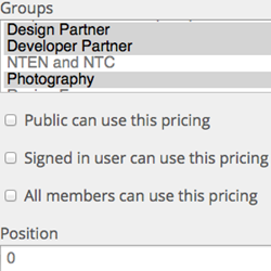 Group Pricing for Events Screenshot