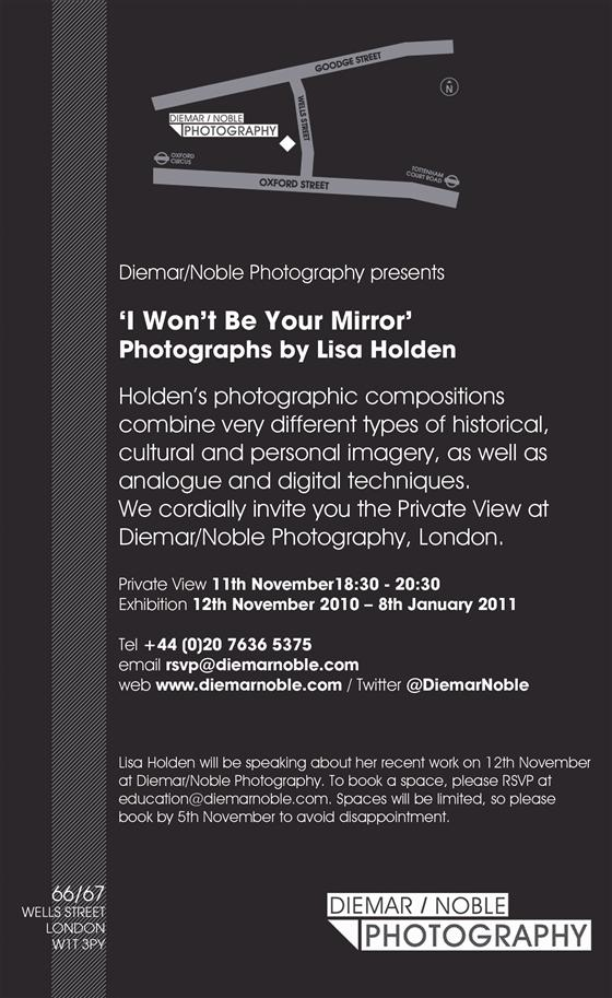I WON'T BE YOUR MIRROR: PHOTOGRAPHS BY LISA HOLDEN
