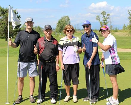 SOBC athletes at Goldcorp Invitational Golf Tournament