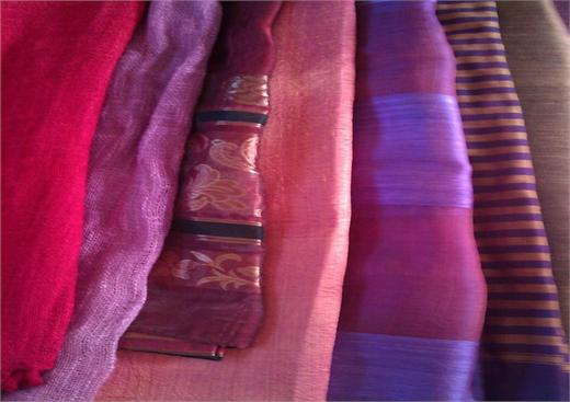 Hand-woven Cambodian scarves being sold to benefit BuckHunger.