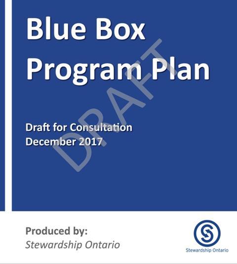 Draft Amended Blue Box Program Plan