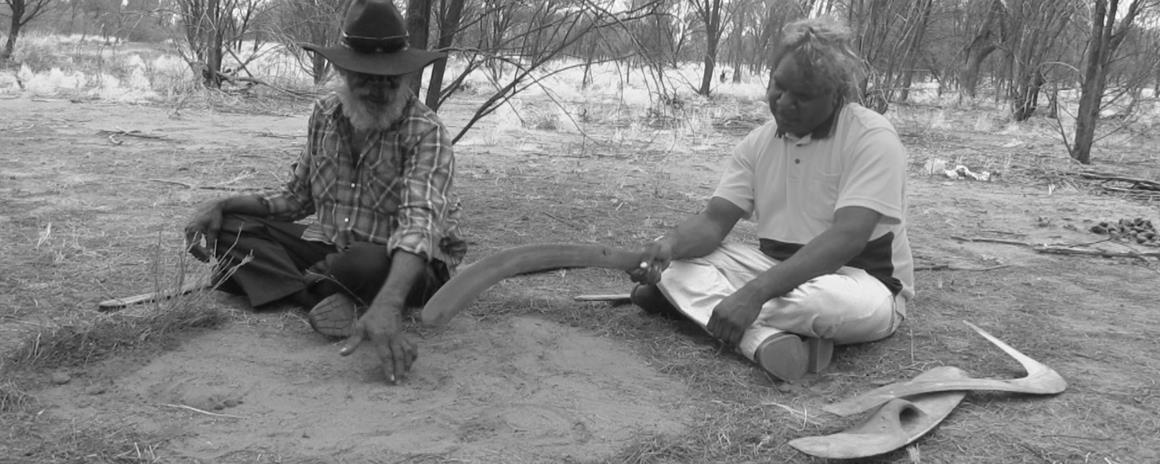 Drawing the line - Martin & Bundi draw in the sand to explain the importance of culture, country & tradition & living in two worlds