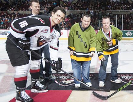 SOBC – Delta athletes drop the puck at a Vancouver Giants game