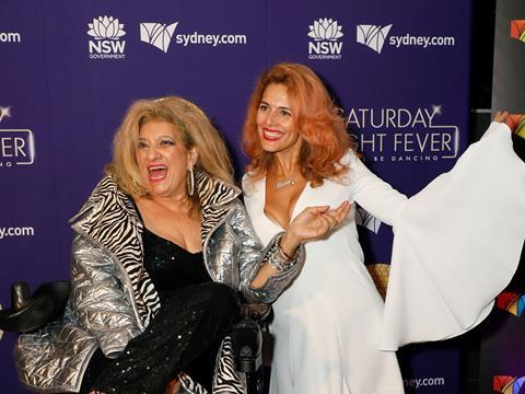 Maria and Bianca Venuti at Saturday Night Fever Opening Night