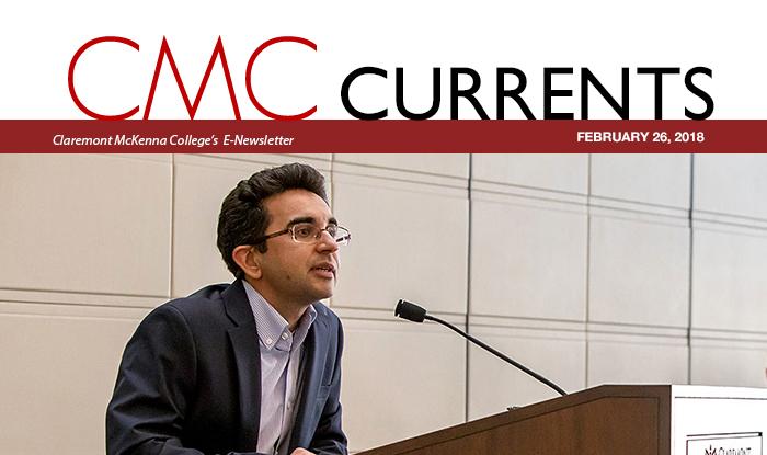CMC Professor Jamel Velji leads a free speech panel