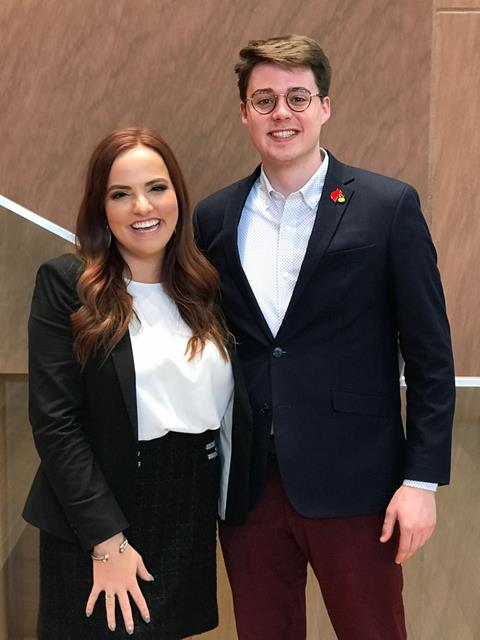 Molly Baldock and Ben Barberie at Harvard's National Campaign Conference