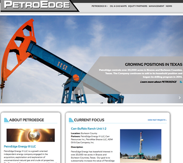 PetroEdge Homepage Screenshot