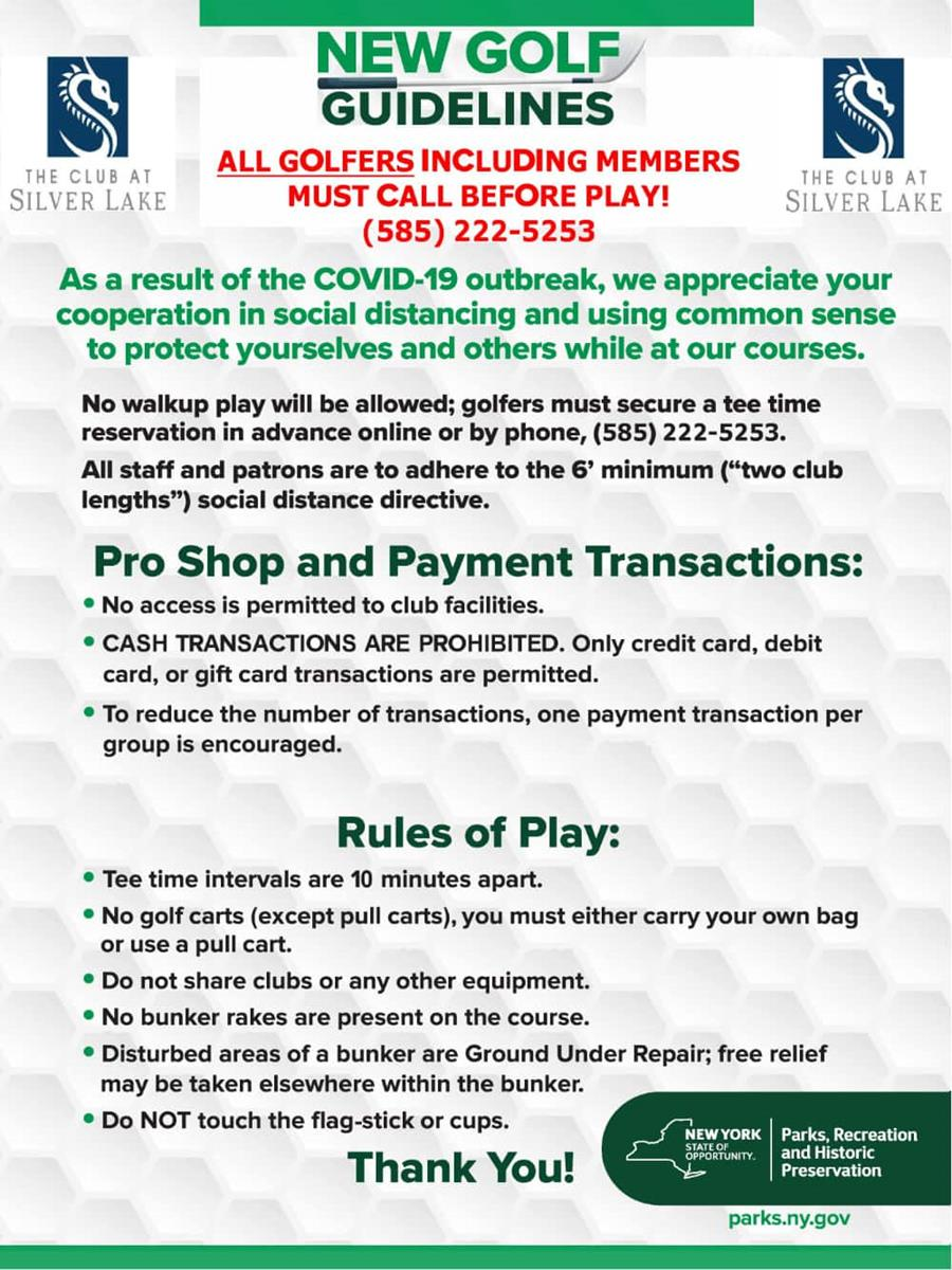 New Golf Guidelines