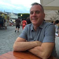 Robert McRuer in the late night sun of Copenhagen, Denmark