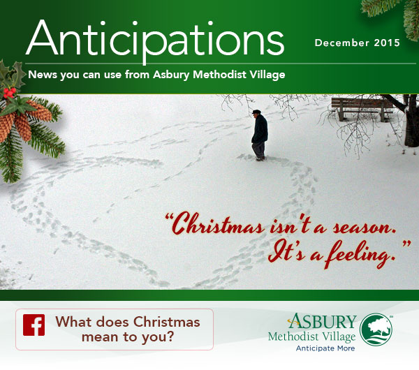 Anticipations - December 2015. Check out what's going on at Asbury on Facebook