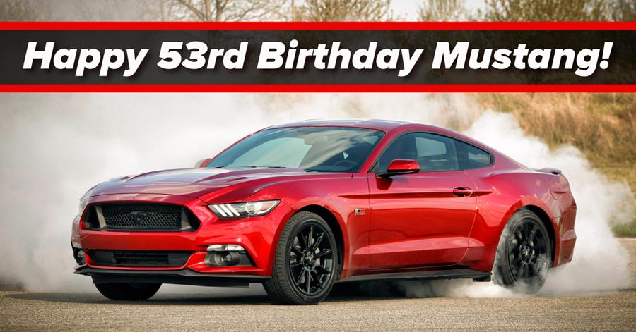 Happy Birthday Mustang