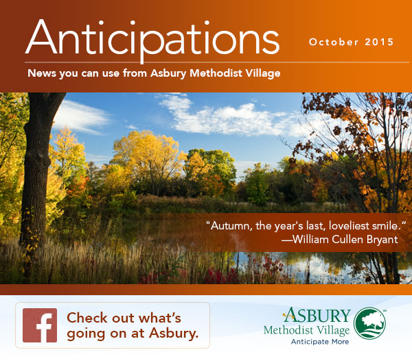 Anticipations - October 2015. Check out what's going on at Asbury on Facebook