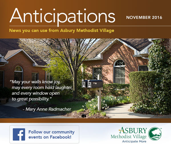 Anticipations - November 2016. Follow our community events on Facebook