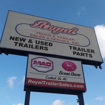 Before: Pylon Sign at Royal Truck & Trailer