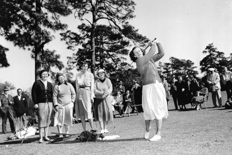 Old photo of U.S. Women's Open contest
