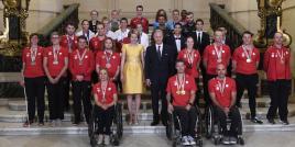 Visite royale pour le Team Belgium