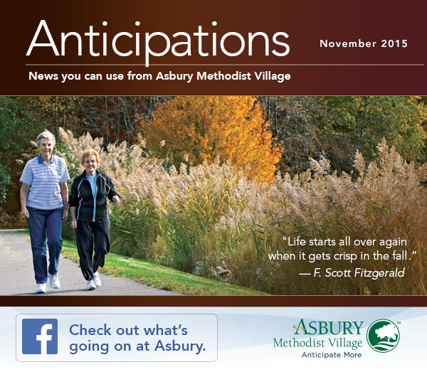 Anticipations - November 2015. Check out what's going on at Asbury on Facebook