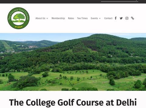 screen grab of golfcourse.delhi.edu homepage.