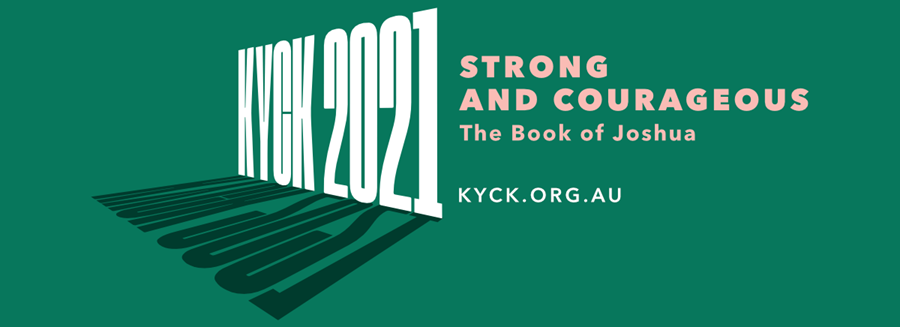 KYCK 2021 Strong and Courageous Theme Graphic