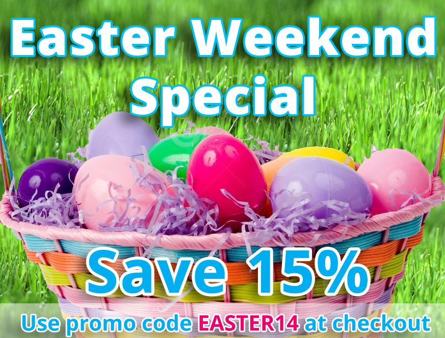 15% Off - Easter Weekend