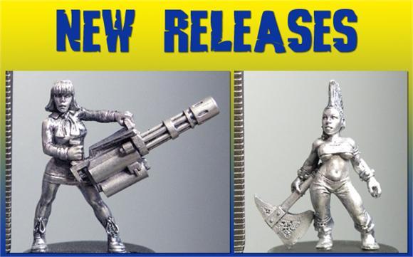 Felicity with a mini-gun and cute new dwarf!