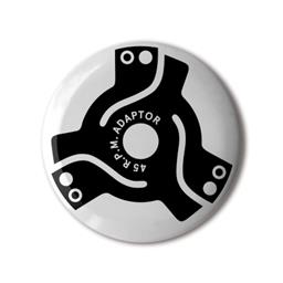 45rpm Adaptors from B.I.O. (By Invitation Only) Button Badge Series 19