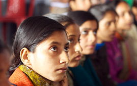 Girls participating in the Jagriti campaign to end child marriage in India