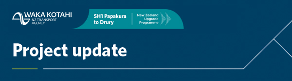 SH1 Papakura to Drury project update